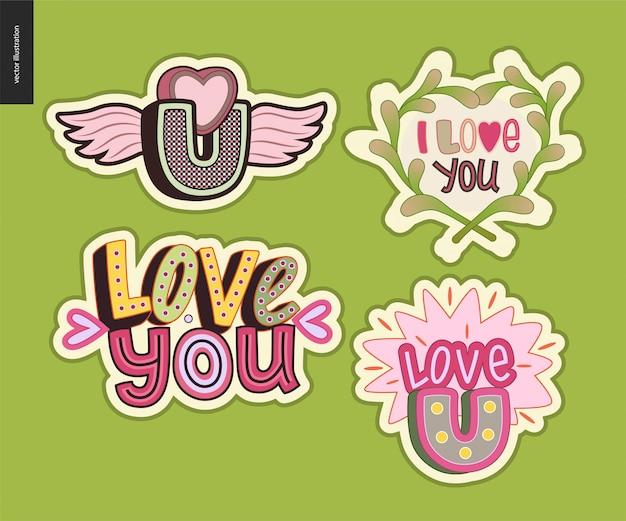 Комплект современной девочки love you letter logo