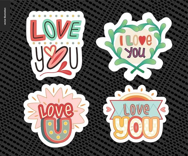 Набор современных девчонок love you letter