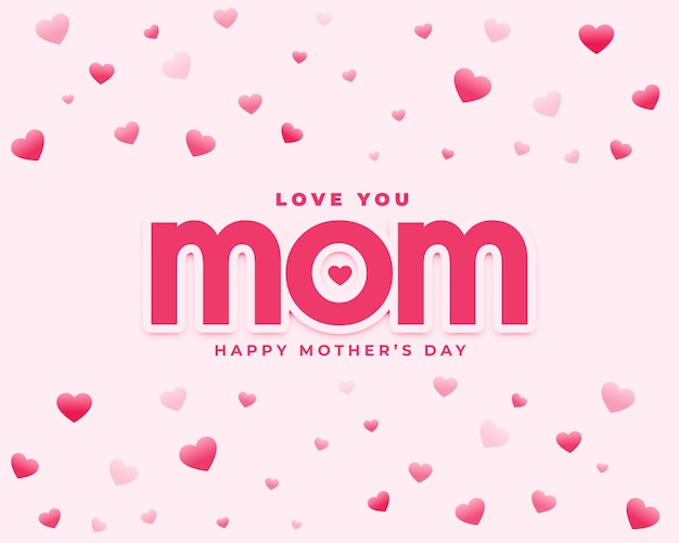 Love you mom mothers day heart greeting