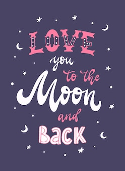 'love you to the moon and back' quote
