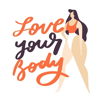 Love your body lettering