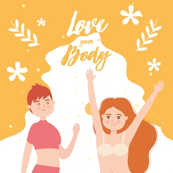 Love your body with diversity girls in underwear