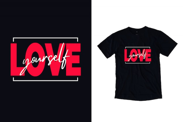 Love your self quotes illustration