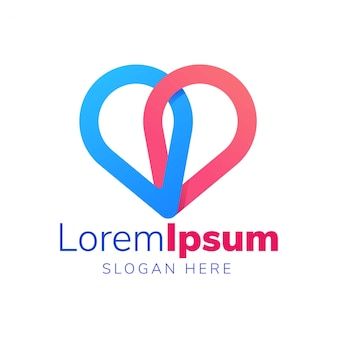 Двойная булавка с логотипом love