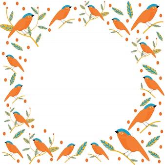 Lovebird seamless pattern vector