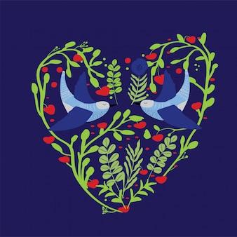 Lovebird seamless pattern