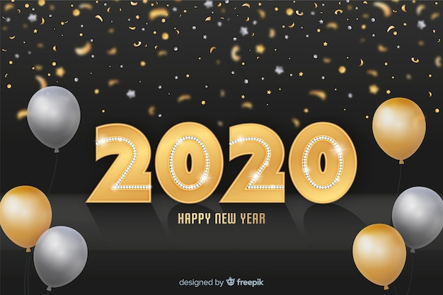 Lovely 2020 golden sparkles backround