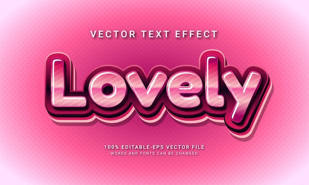 Lovely 3d editable text style effect