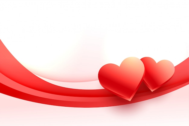 バレンタインデーの素敵な3 dハート背景