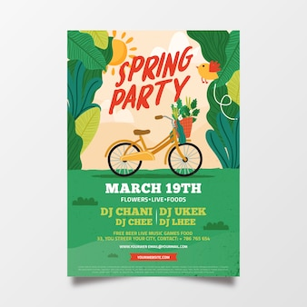 Lovely abstract spring party flyer