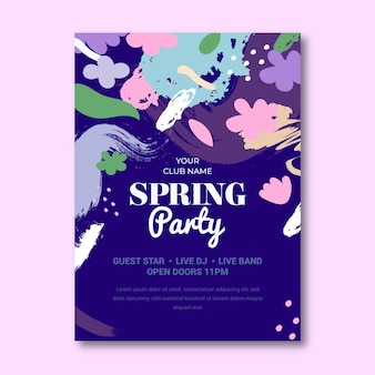 Lovely abstract spring party poster