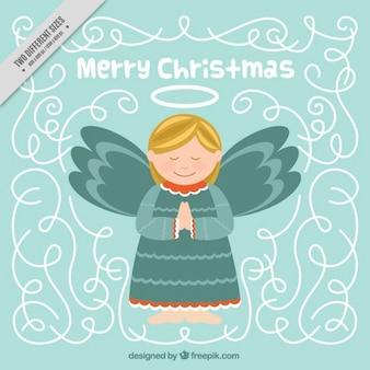 Angelo bello merry christmas background