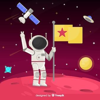 Прекрасный дизайн космонавта