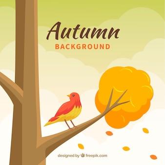 フラットなデザインの素敵な秋の背景