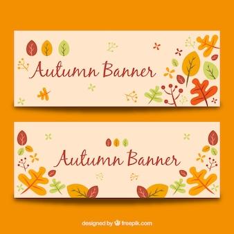 Bandiere autunno belle con stile divertente