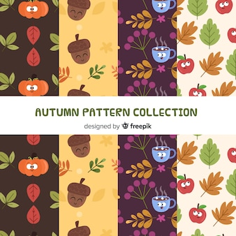 Lovely autumn pattern collection