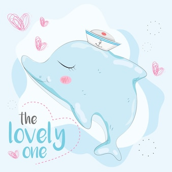 Lovely Baby Dolphin