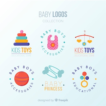 Lovely baby logo with modern style