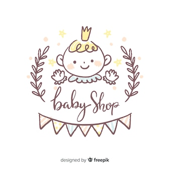 Lovely baby shop composition