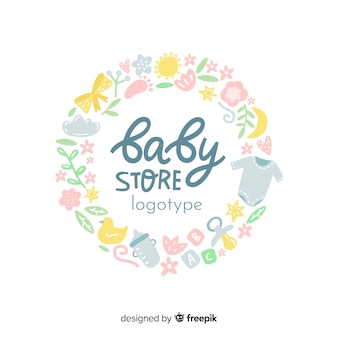 Lovely baby shop logo template with modern style