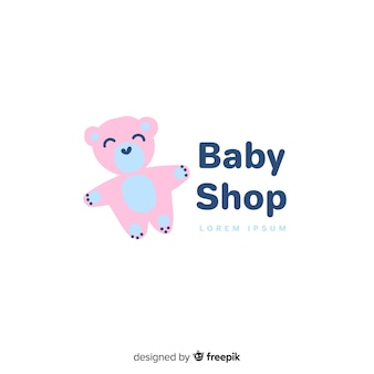 Lovely baby shop logo template
