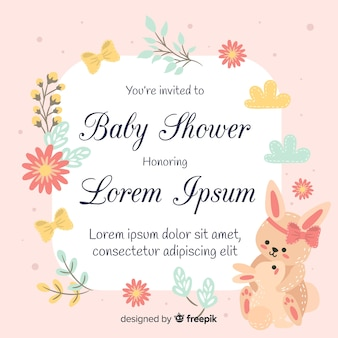 Lovely baby shower design in flat style