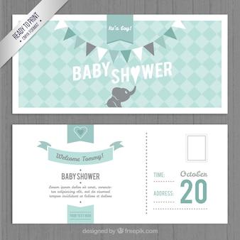 素敵なベビーシャワーの招待状テンプレート