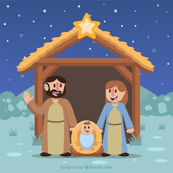 Lovely background of jesus birth
