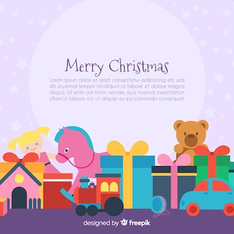 Lovely background with christmas toys
