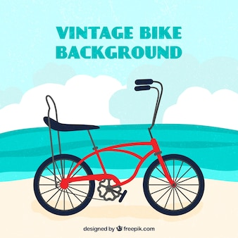 Lovely background with vintage bike
