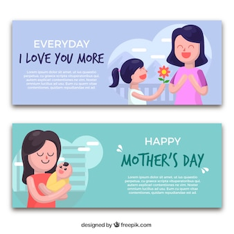 Lovely banners for mother's day