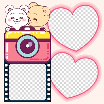 Lovely bears photoframes and cute camera