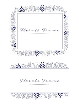 Lovely beautiful florals frame wreath logo background
