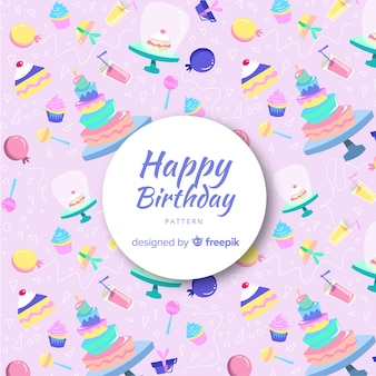 Lovely birthday composition with colorful style