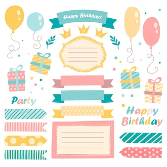 Lovely birthday scrapbook collection