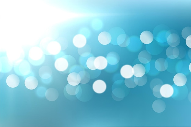 Lovely blue bokeh light effect design