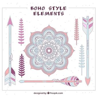 Lovely boho style elements