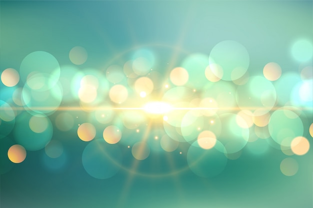 Lovely bokeh with light flare background
