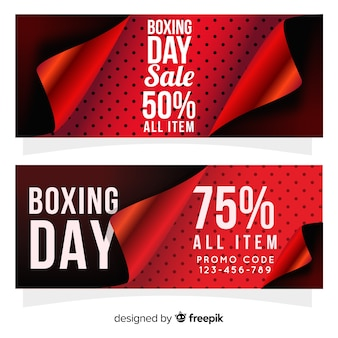 Lovely boxing day sale banners