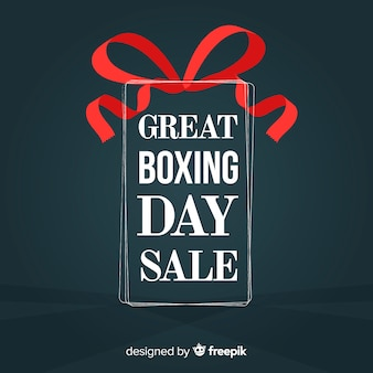 Lovely boxing day sale compositio
