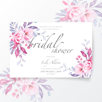 Lovely bridal shower invitation template