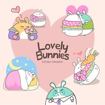사랑스러운 토끼 샐리