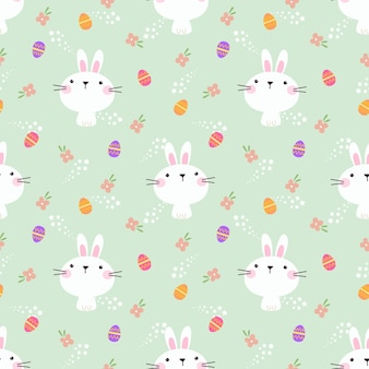 Lovely bunny and easter egg seamless pattern