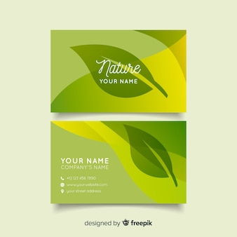Lovely business card with nature concept