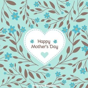 Прекрасные карты с рисованной листьев на день матери