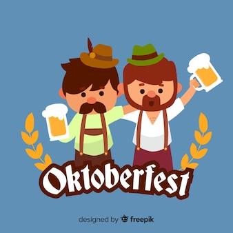 Lovely characters celebrating oktoberfest