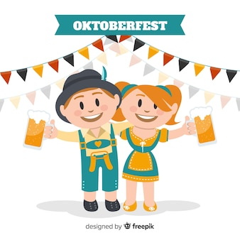 Lovely characters celebrating oktoberfest