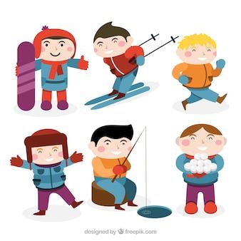 Lovely children practicing sport