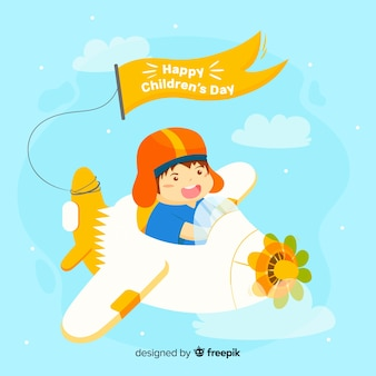 Lovely children's day composition with flat design