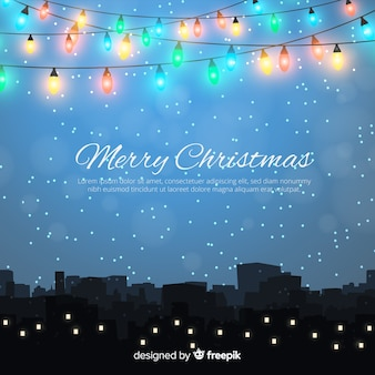 Lovely christmas background design